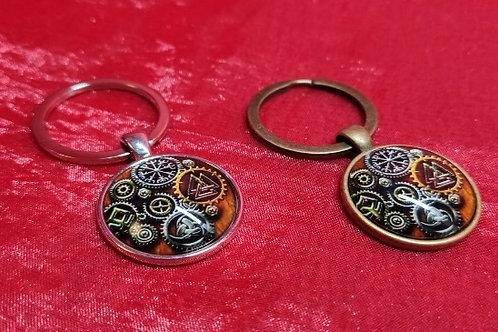 Брелоки на ключи (металл + эпоксидная смола