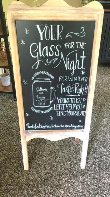 Double Sided Easel Chalkboard