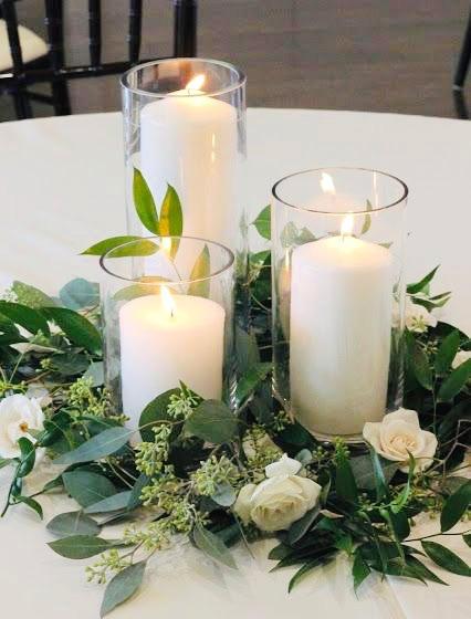 Clear Glass Cylinder Vase Set
