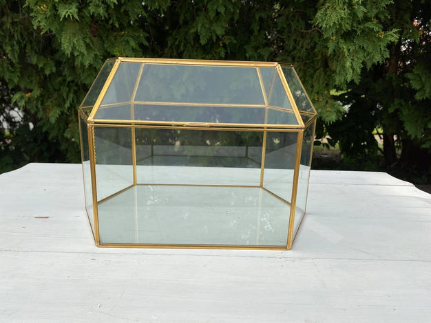 Candice Large Glass Card Box