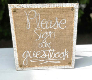Rustic Guestbook Sign