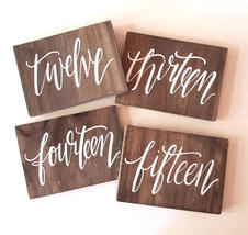 Wooden Table Numbers 1-30
