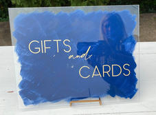 Acrylic Gifts and Cards Sign