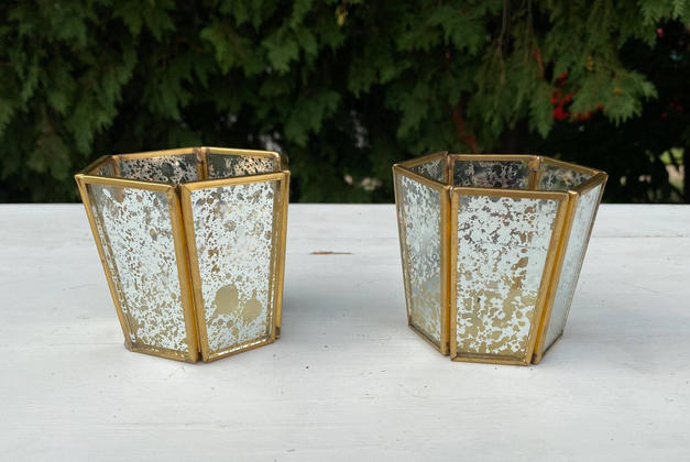 Assorted Gold Candle Holders