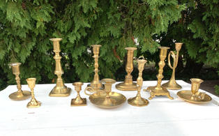 Assorted Brass Candlesticks