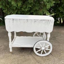 Grace White Tea Cart