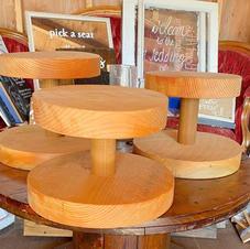 Rustic Wooden Cupcake Stands
