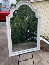 Large White Trimmed Mirror