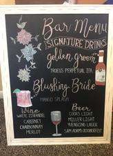 Large Bar Menu Sign