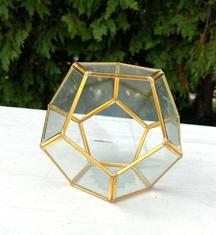 Assorted Gold Trim Terrariums