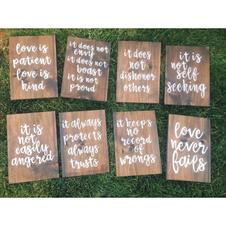 1st Corinthians Aisle Signs