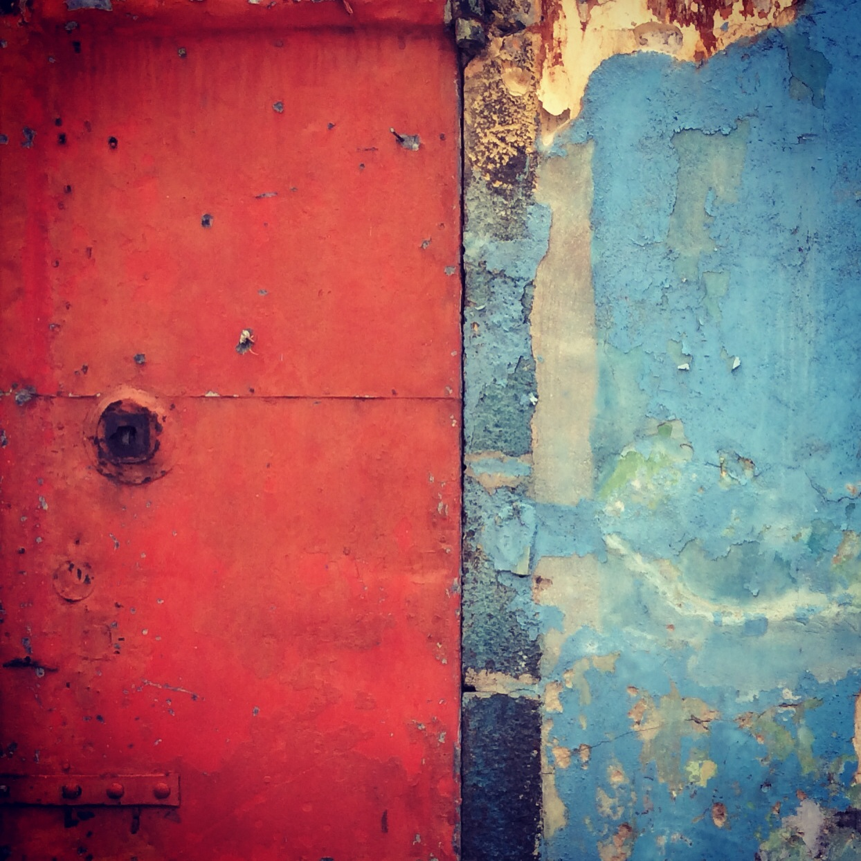 Red & Powder Blue