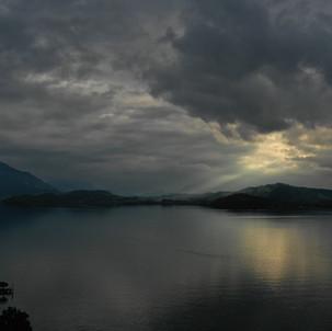 Dramatic sunset in Zug, Switzerland