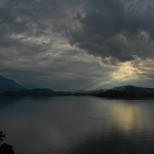 Dramatic sunset in Zug, Switzerland
