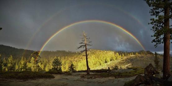 Double Rainbow over the Upper San Joaquin River