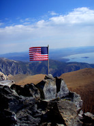 American Flag at Mt Dana