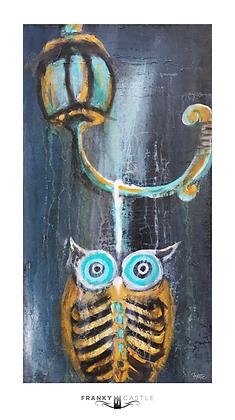 "Big Horn Owl // 9.5""x17"" Print"