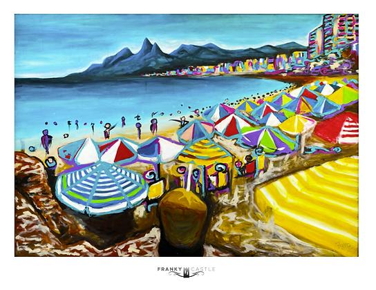 """Beach Day // 11""""x13.5"""" Print"""