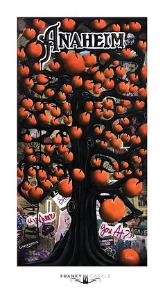 "Anaheim Orange Tree // 9.5""x17"" Print"