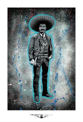 """Emiliano Zapata // 11""""x16.25"""" Print"""