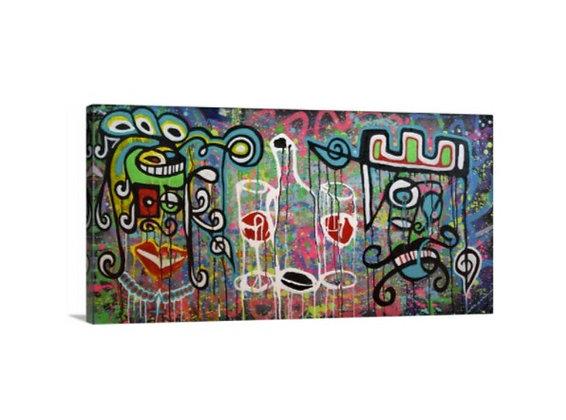 Chicana Rana // 24x48 Canvas Wrap