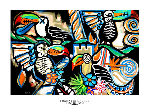 "Jungle Birds // 11""x15"" Print"