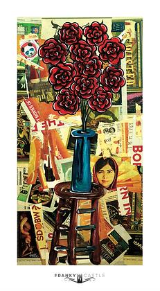 "Malala Flowers // 9.5""x17"" Print"