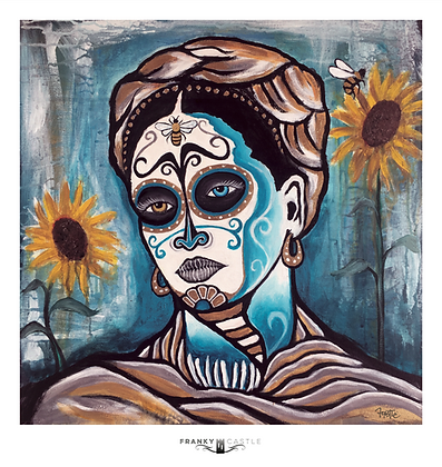 Sunflower Frida // 11x11 - Print