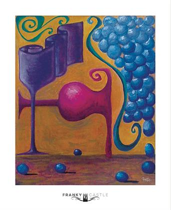"Spill the Wine // 11""x13.5"" Print"