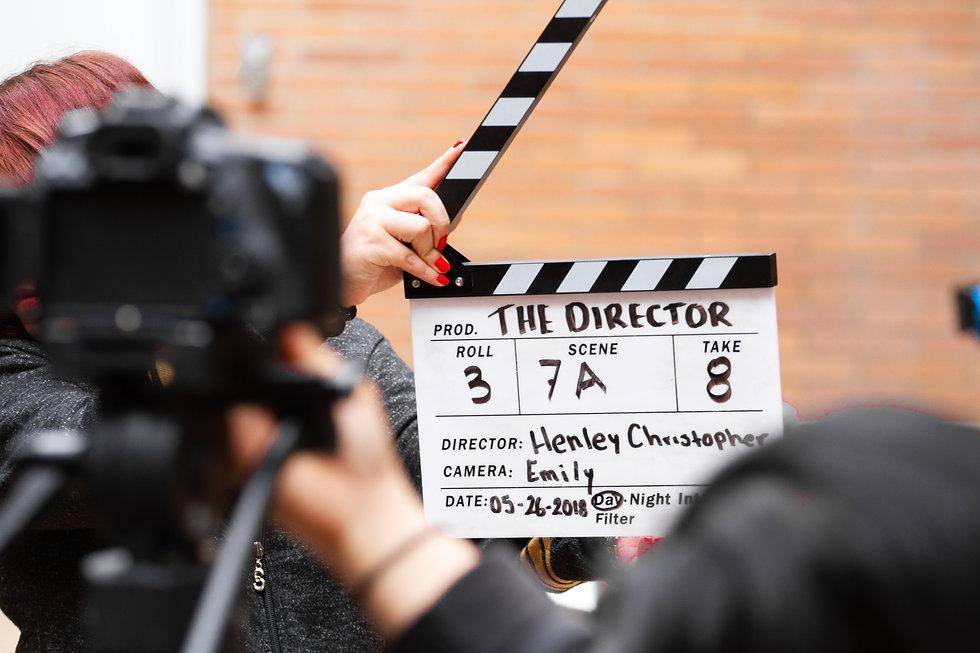 A filmmaker marking a movie scene for Scene Stealer