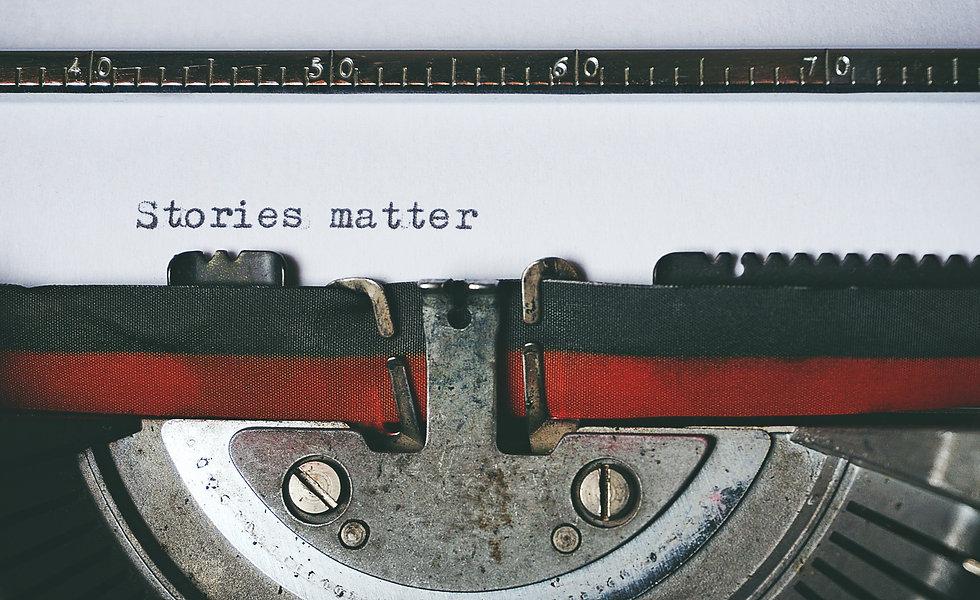 Typed words Stories matter still in typewriter