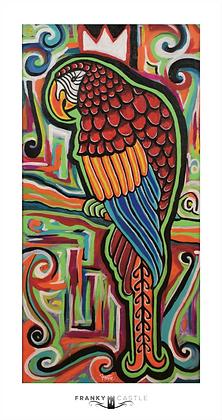 """King Macaw // 9""""x17"""" Print"""