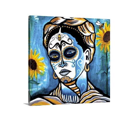 Fridas Blues // 20x20 Canvas