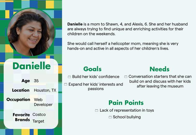 Danielle User Persona