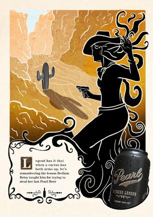 Pearl Beer Print Ad - Bedlam Betsy