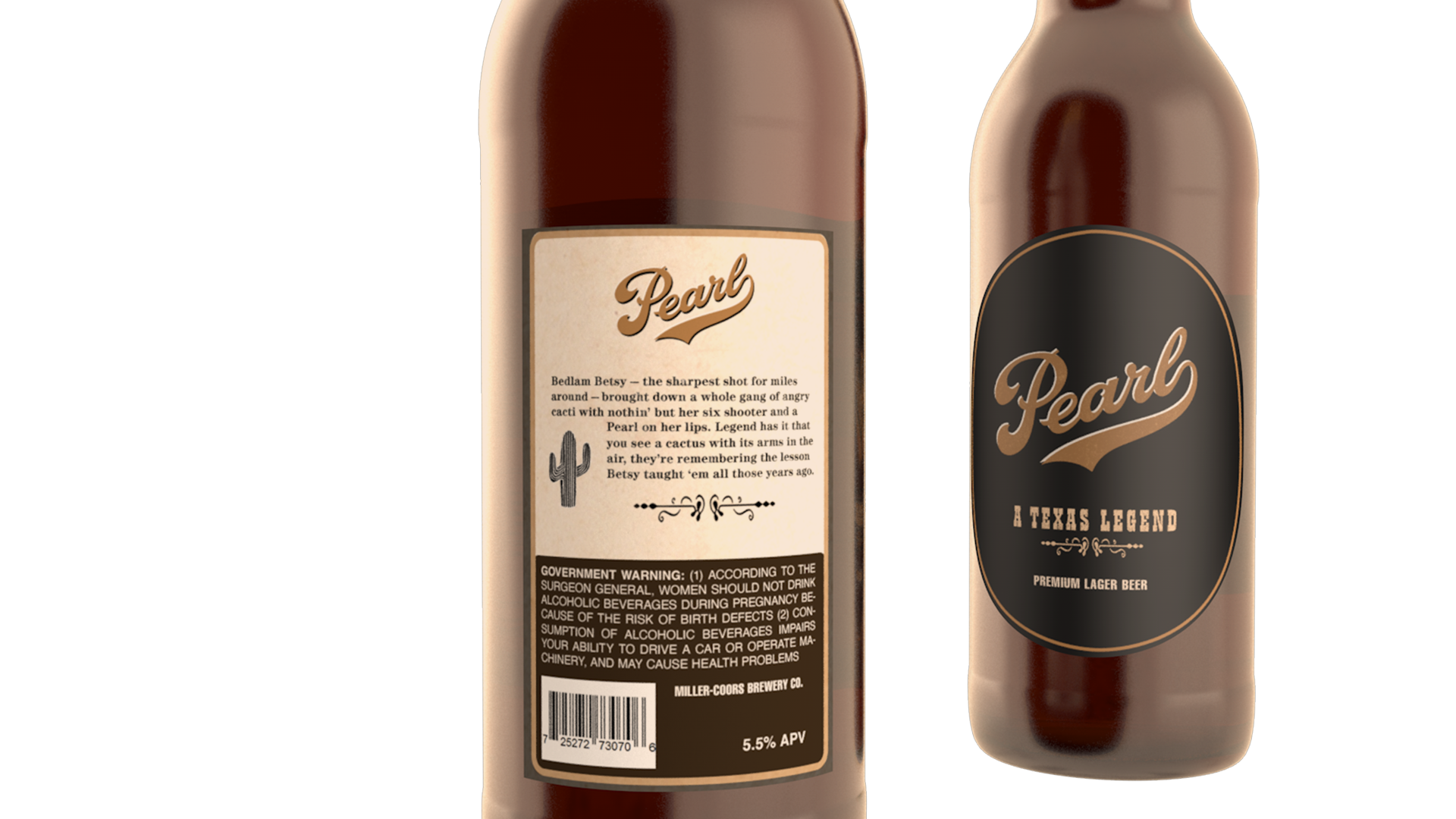 Pearl Beer Bottle Packaging Design | Close Up