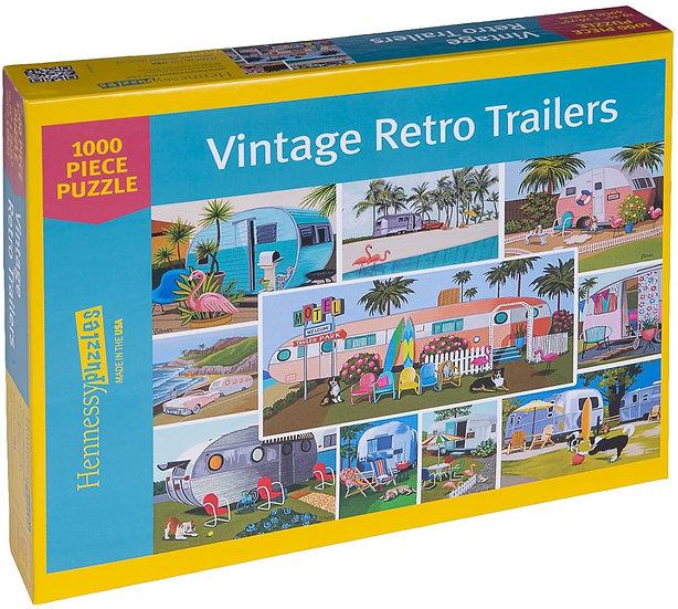 Puzzle - 1000 piece Vintage Retro Trailers (Hennessy puzzles)
