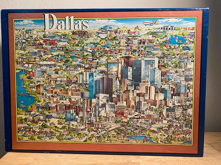 Puzzle - 504 piece City of Character Puzzle - Dallas (Vintage)