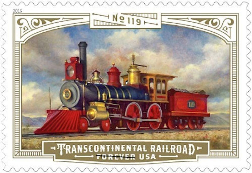 Stamp - USPS 150th Anniversary of Transcontinental Railroad