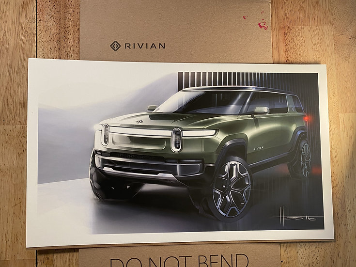 Official Rendering of the 2021 R1S - Rivian SUV