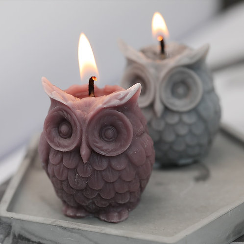 SJ 3D Owl Candle Mold Silicone Mold