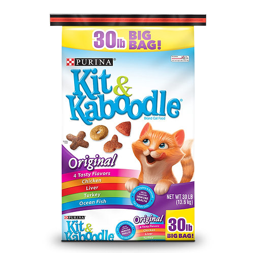 Purina Kit and Kaboodle Original Adult Dry Cat Food 30lb.