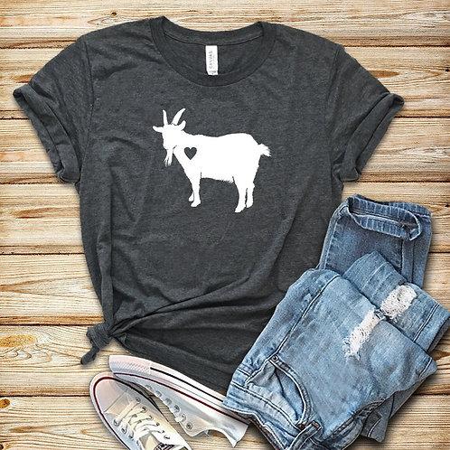 Goat Love Shirt Cute Goat T-Shirt Farm Girl Shirt Goat Lover