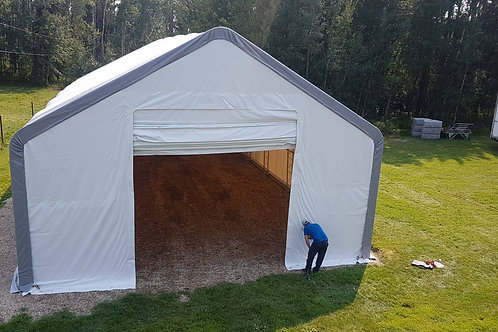 40'W X 21'H - PEAKED - DOUBLE TRUSSED