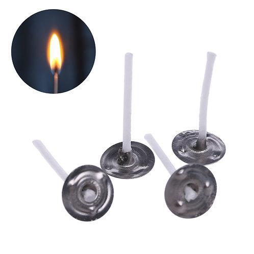 100PCS Natural Handmade Smokeless 2.6/6/10/12/16cm Smokeless Candle Wick