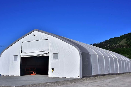 60'W X 25'H - PEAKED - DOUBLE TRUSSED