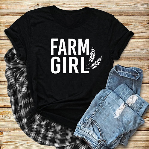 Farm Girl Shirt Farmers Wife Country Girl  Slogan Graphic Funny Cotton Casual