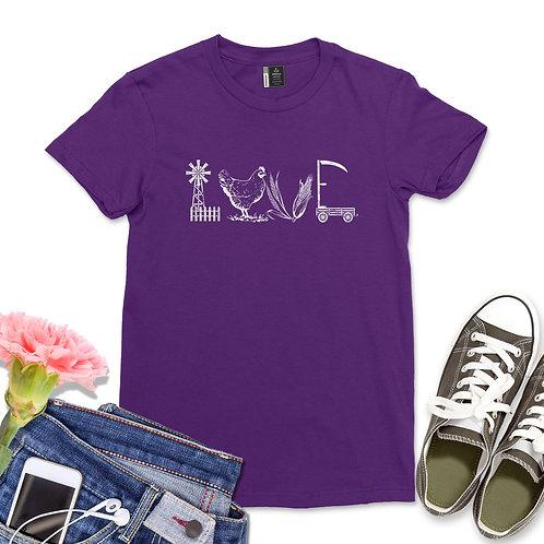 Love Farm Shirt Western Cowgirl Tshirt