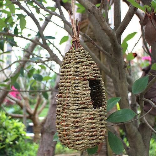 Hanging Bird House Natural Fiber Finch