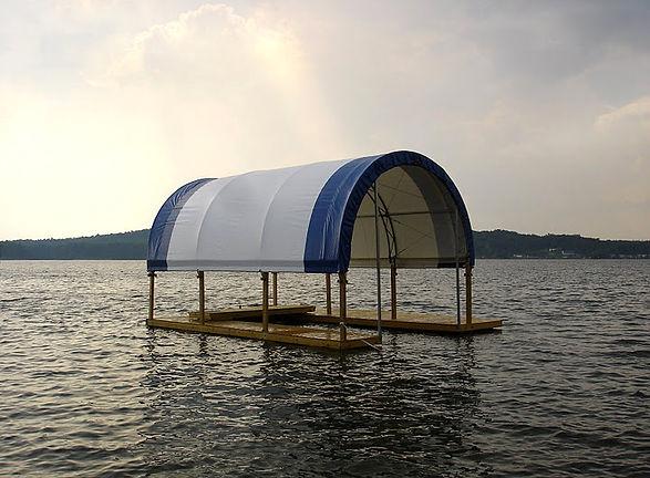 Fabric Shelter for Dock Slip